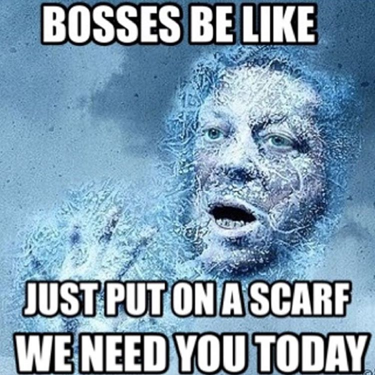 Photos Bosses Be Like Meme Snow Day Inspires Jokes Hollywood Life Snow Quotes Funny Boss Humor Be Like Meme