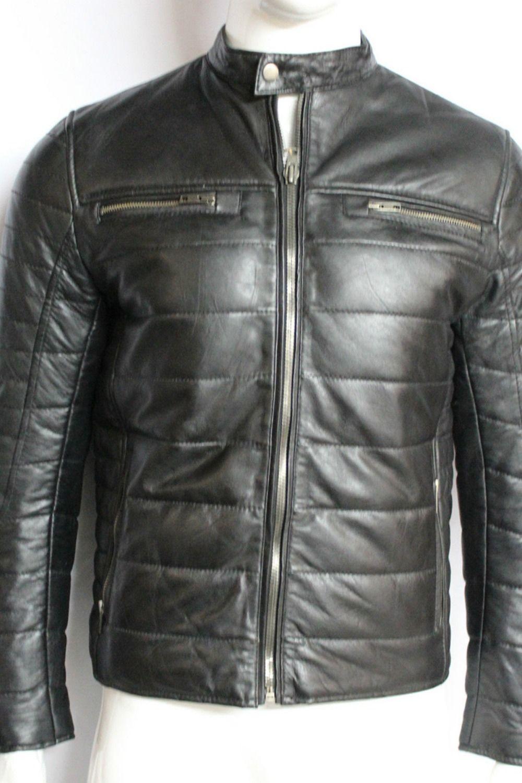 Men S American Puffer Padded Black Designer Fitted 100 Leather Jacket Leather Jacket Black Design Men S Leather Jacket [ 1500 x 1000 Pixel ]