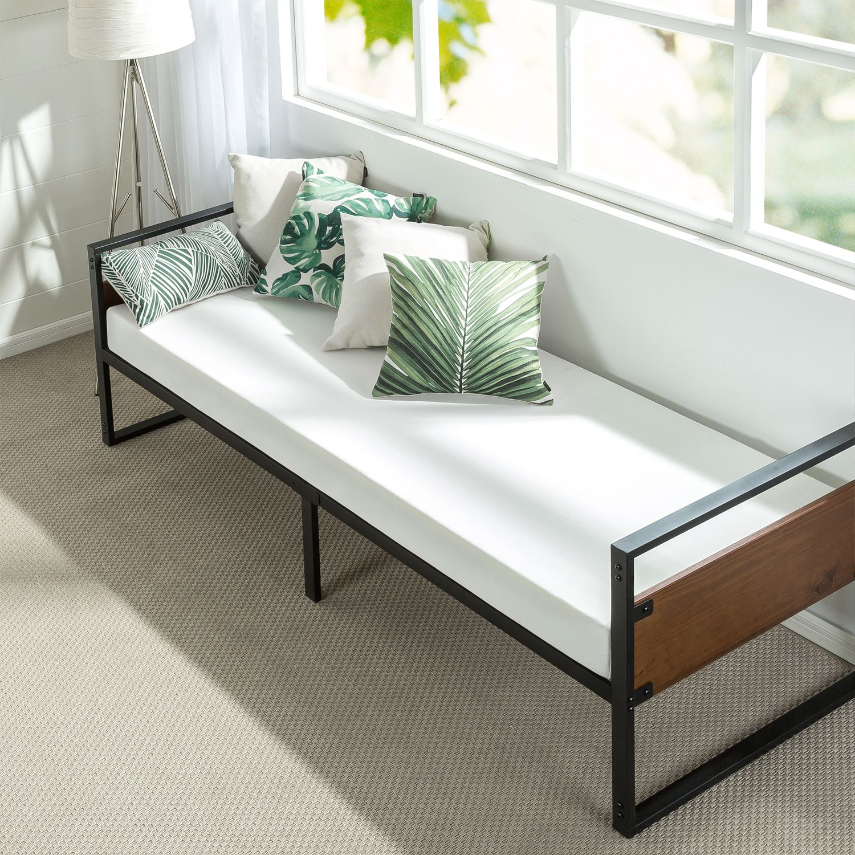 Zinus Florence 37 Twin Daybed And Trundle Frame Set Premium Steel Slat Support Walmart Com Day Bed Frame Mattress Sets Bed Frame