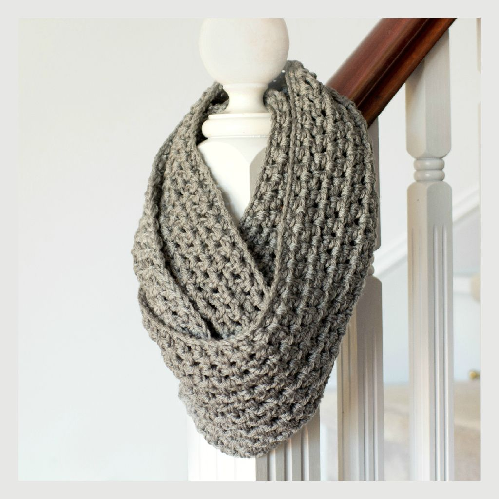 Basic Chunky Infinity Scarf Pattern | Knit and Crochet ...