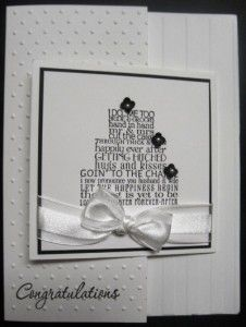 Handmade wedding card using Stampin' Up!'s Love & Laughter stamp set