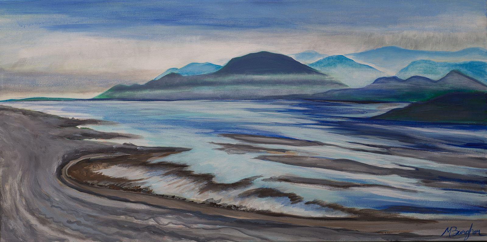 """Spanish Banks"" Acrylic on Canvas #art #painting #spanishbanks #acrylic #ocean #sunset #vancouver"