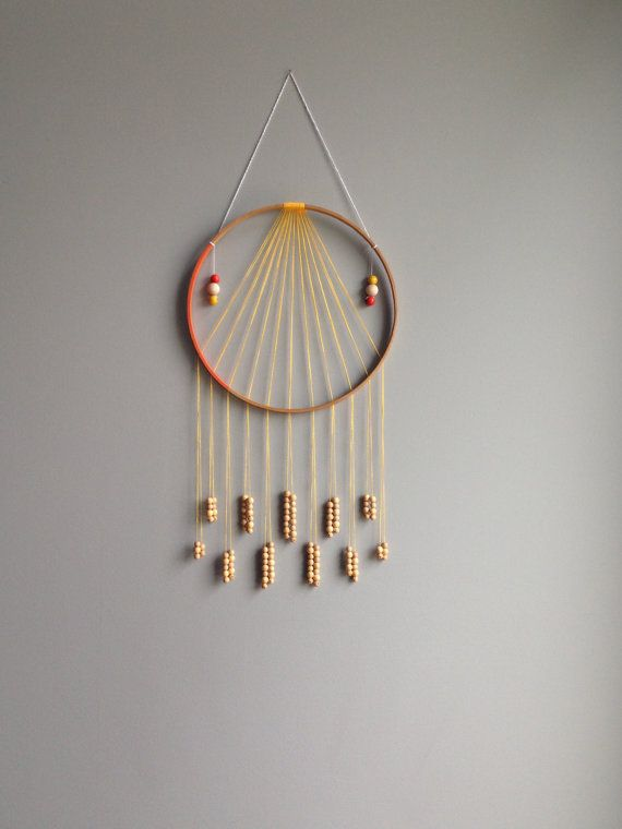 Bead Fringe Wall Hanging Modern Dreamcatcher by ...