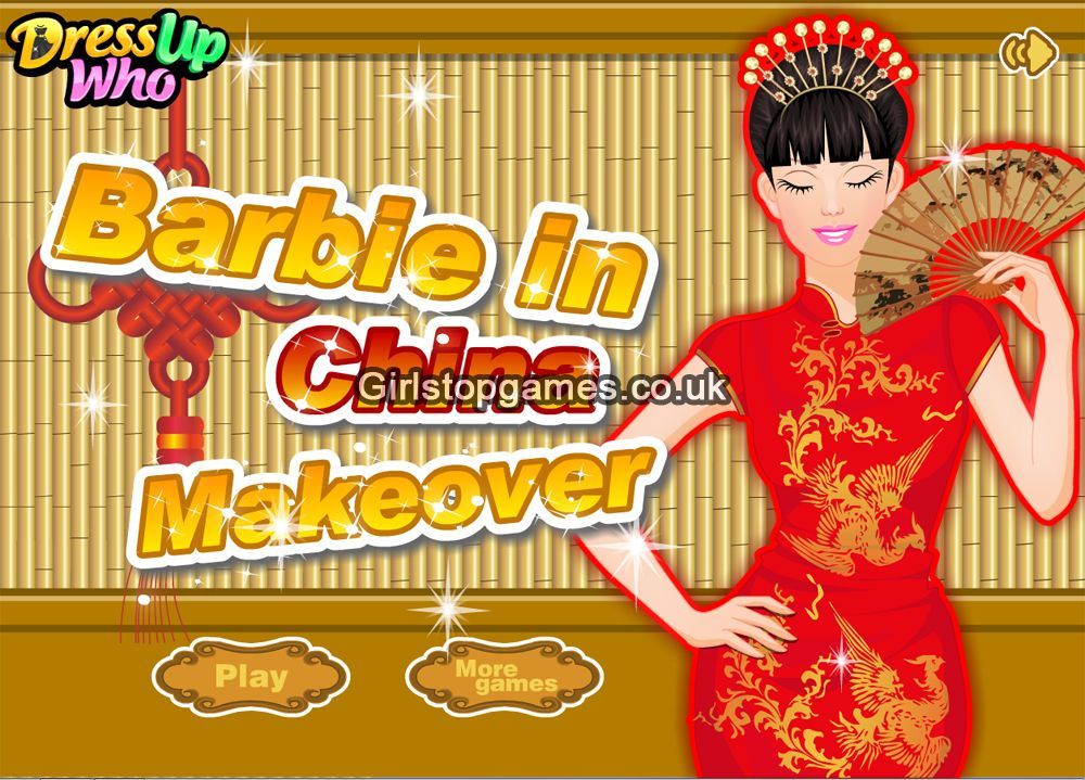 You can Online Play Barbie In China Makeover Girls Game