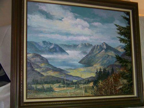 Tom-J-Dooley-Listed-Artist-Original-Oil-On-Canvas-Landscape-Painting $4,250.00