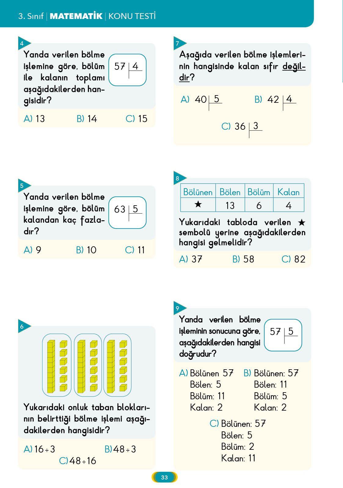 3 S N F Yaprak Test Matematik Pucu