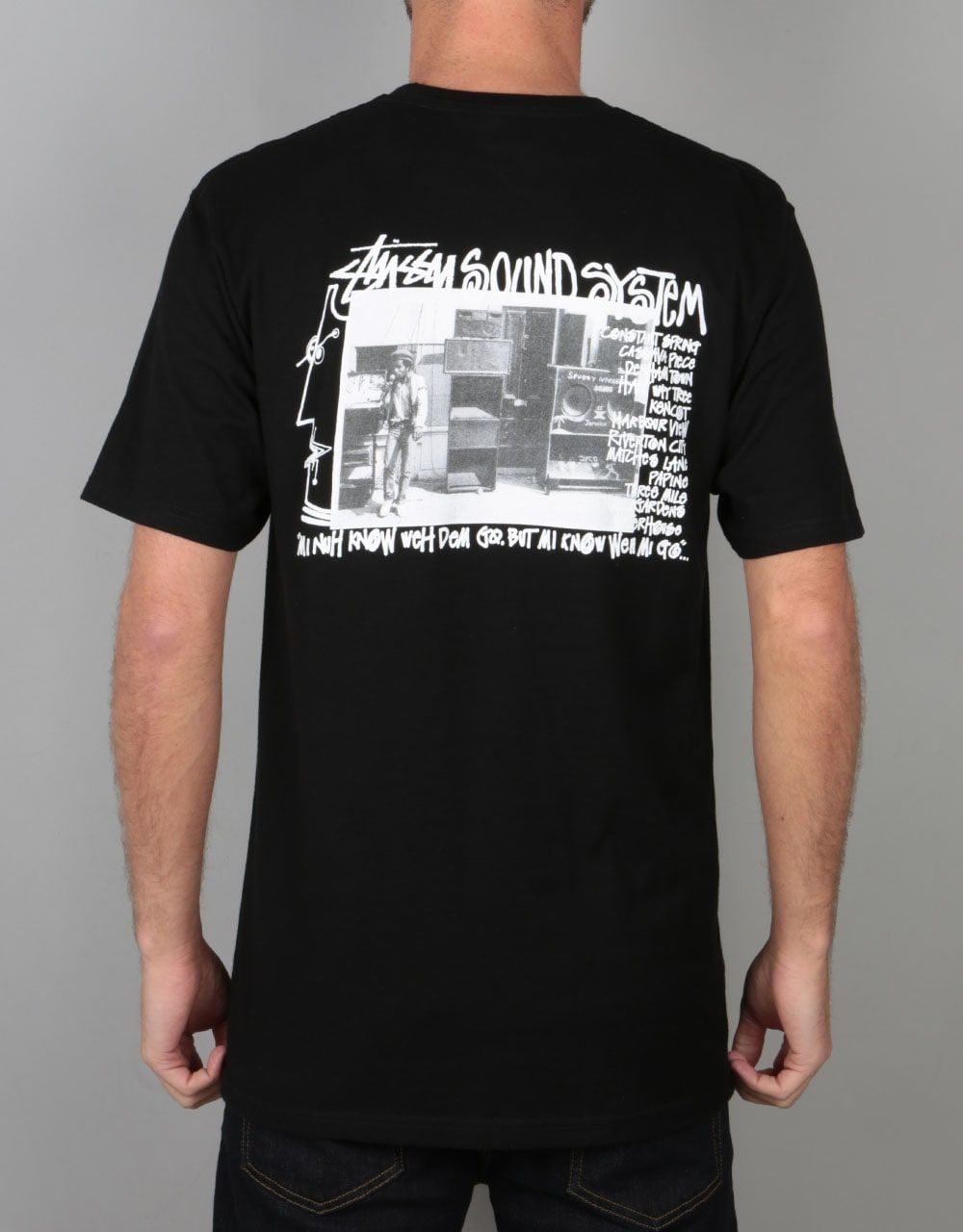 Stüssy Sound System T-Shirt - Black | Skate Clothing | Mens Skateboard  Clothes |
