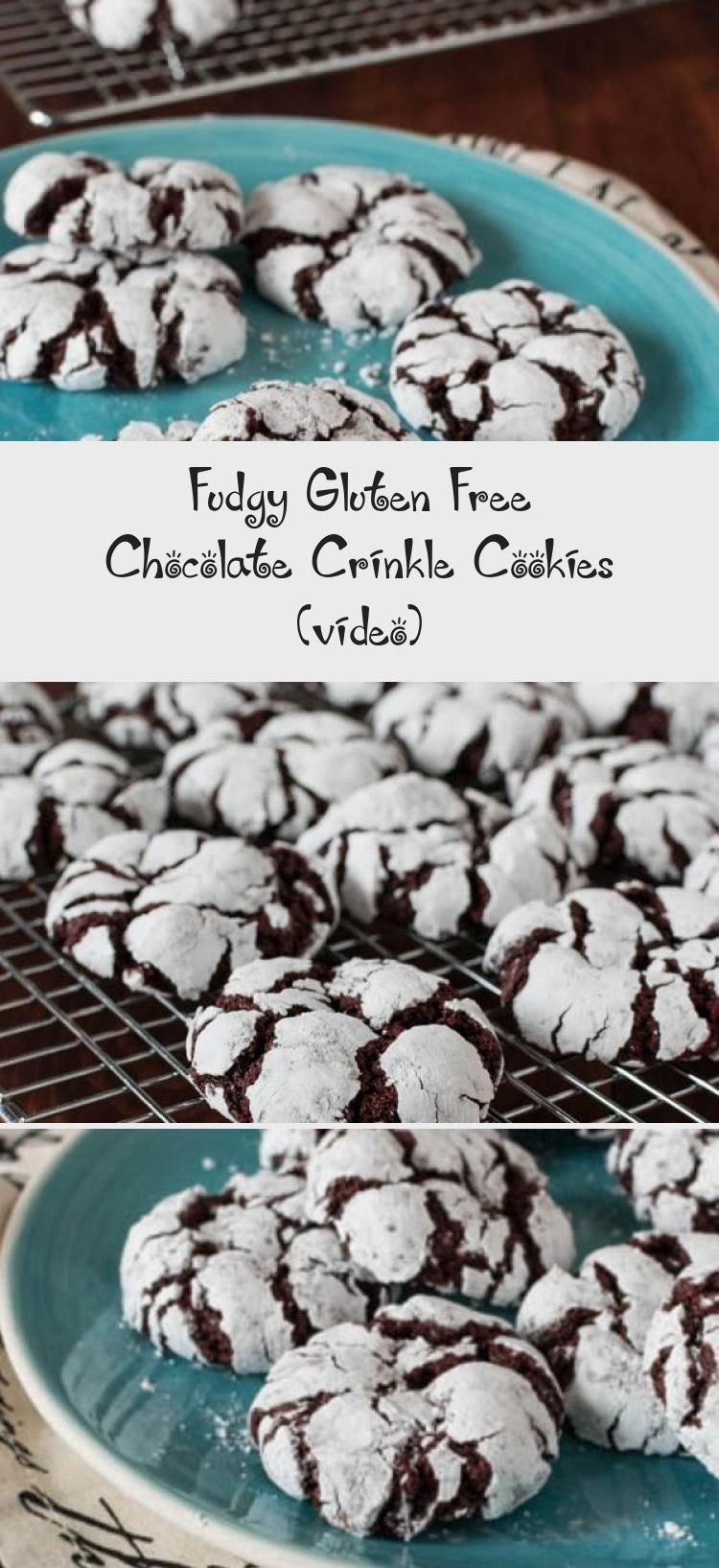 Rolled in powdered sugar, these Fudgy Gluten Free Chocolate Crinkle Cookies are crisp on the outside and soft and chewy on the inside. Who says you can only bake these at Christmas? #FoodandDrinkGlutenFree #chocolatecrinklecookies