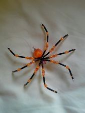 Glass Beaded Halloween Spider Suncatcher Ornament Decoration