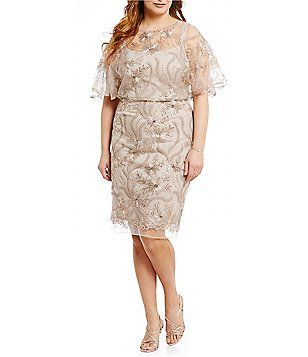 4ca4751ae5 Brianna Plus Sequin Embroidered Blouson Dress