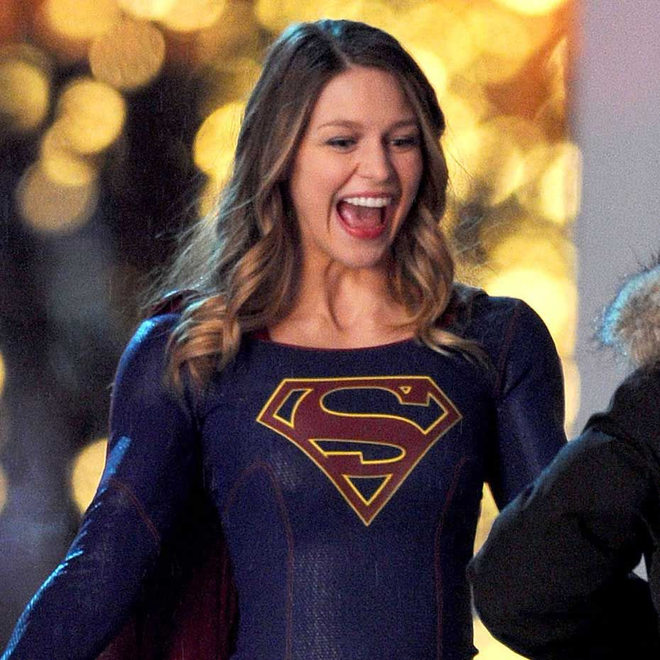 Supergirl Melissa Benoist Fighting Crime But Who S Behind The Mask Celebrity Wotnot Melissa Benoist Supergirl Tv Supergirl