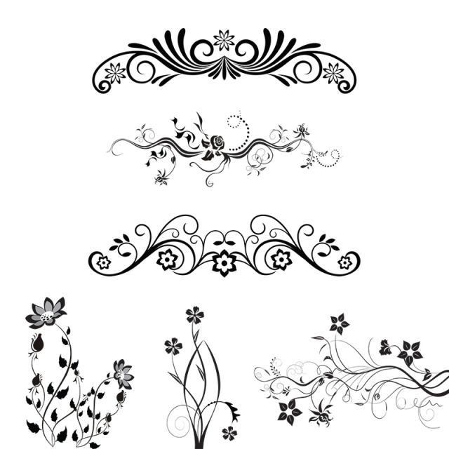 Floral Ornamental Design Elements Vector Png Png Free Download Png And Psd Floral Vector Png Ornament Drawing Floral Watercolor Background