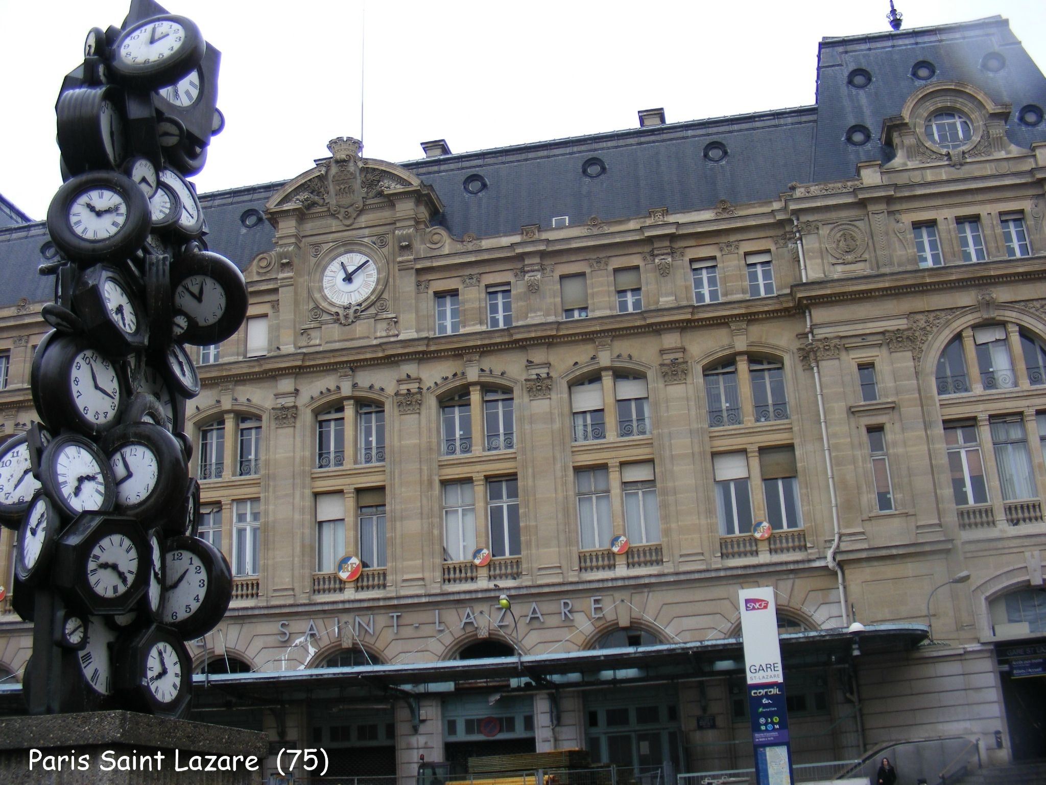 Gare De Paris Gare St Lazare Paris Gare De Paris St Lazare Photo De Les