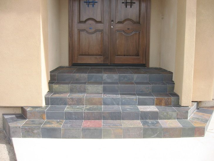 Slate Entry Tile Installation Tile Steps Outdoor Tiles