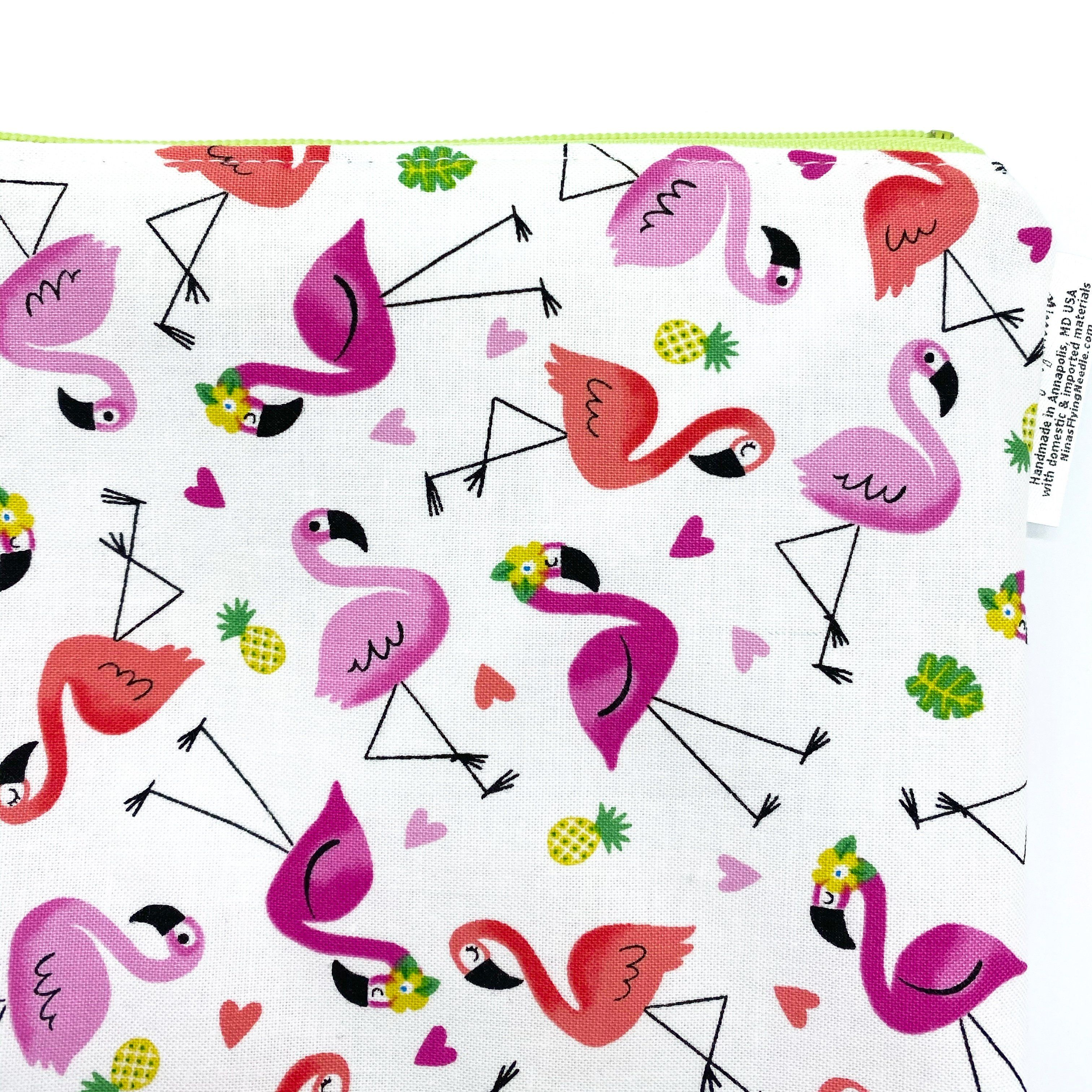 Photo of Travel Pouch Sized Wet Bag Flamingos and Pineapples