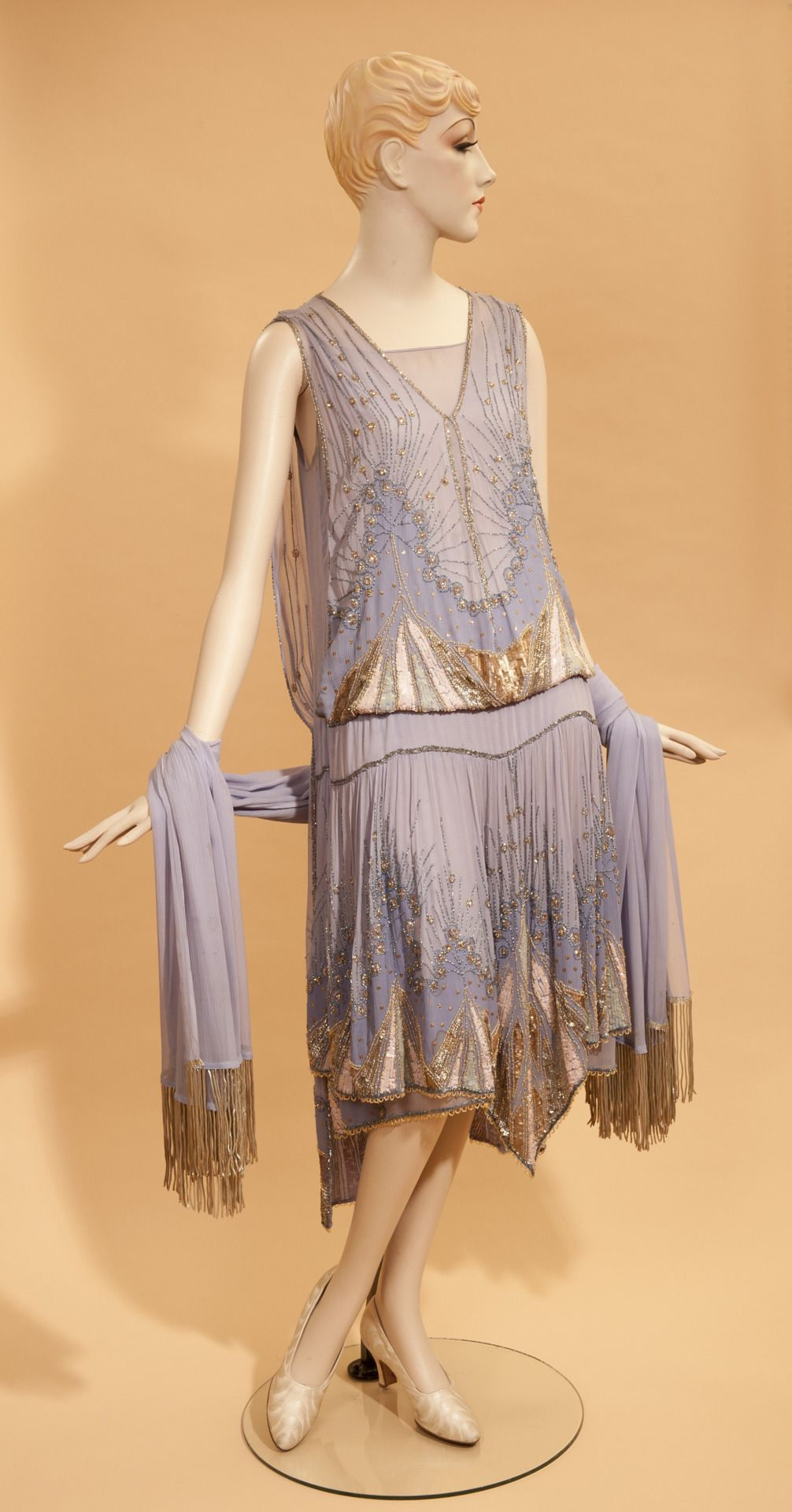 Evening dress, 1920s. Fashionable Art: Apparel from the 1920s and 1930s
