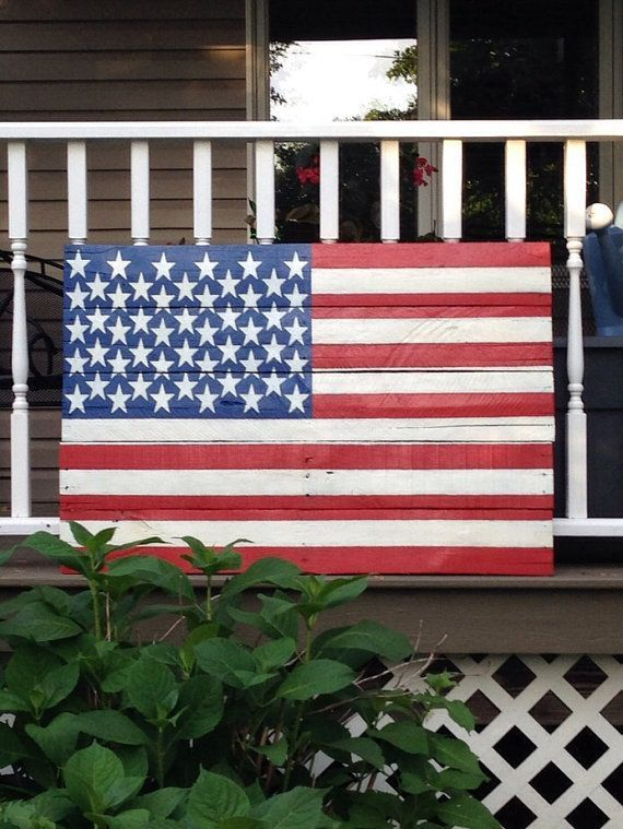 pallet flags | Wood Pallet American Flag by WhenHeNaps on ...