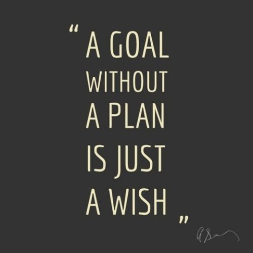 """A goal without a plan is just a wish."""