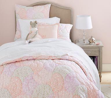 Leila Wholecloth Quilt, Euro Sham Pink Multi
