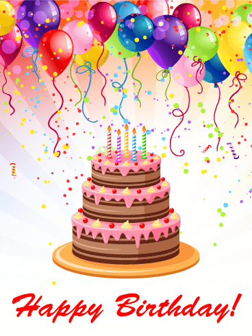 Send Free Fun Colorful Birthday Party Card To Loved Ones On