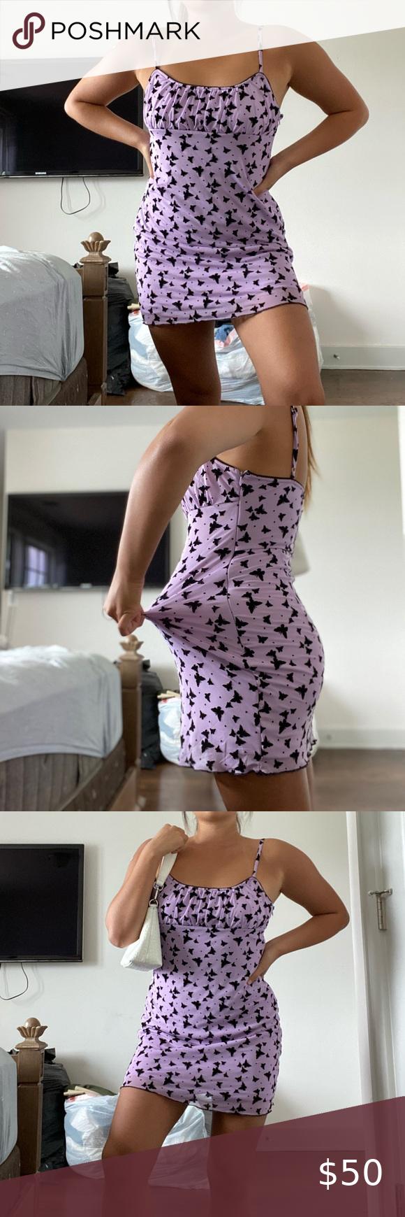Purple Butterflies Dress Butterfly Dress Peppermayo Dress Dresses [ 1740 x 580 Pixel ]