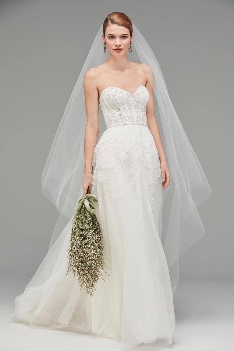 Tulle skirt wedding dress  Watters Fall  Celestial Wedding Dresses  Celestial wedding