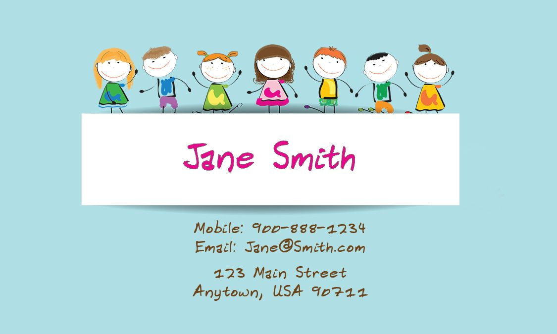 Babysitting Business Card Design 1101102 Teacher Business Cards Business Card Design Minimalist Business Card Design
