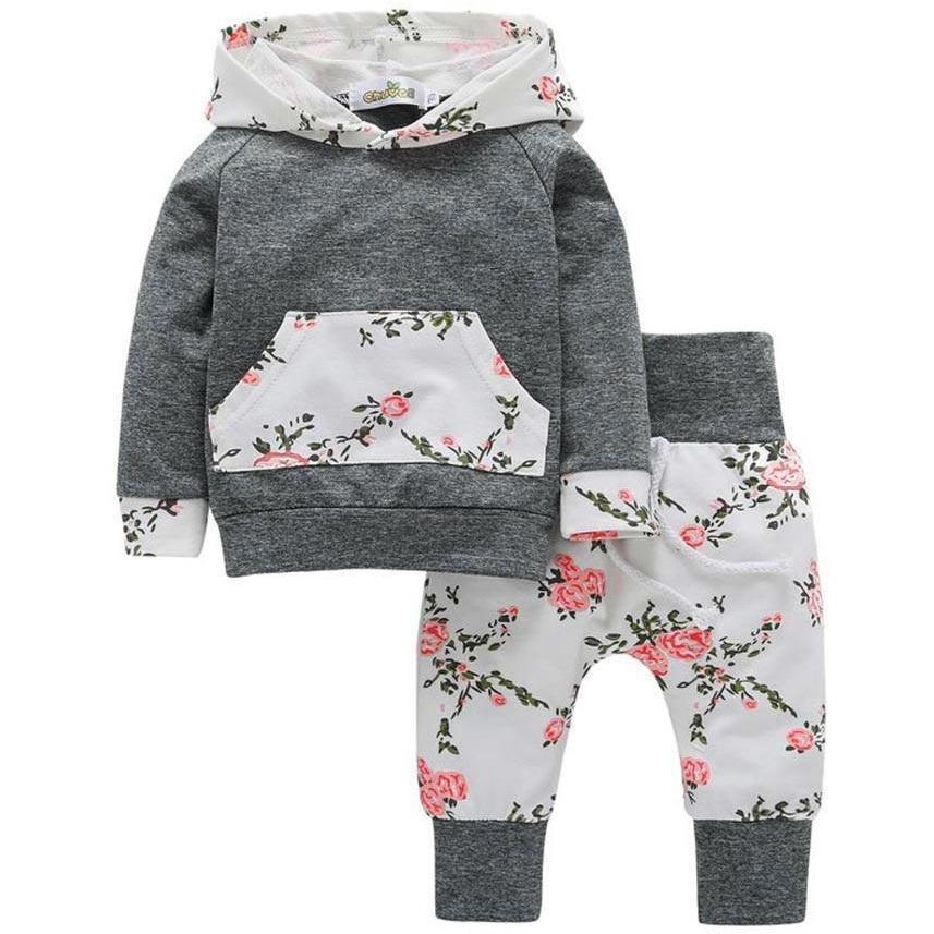 6f762d2c9 Baby Floral Hoodie and Pant Set | Miahvanch | Ropa bebe, Moda de ...