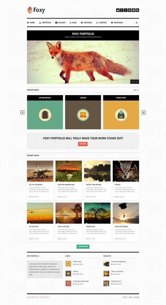 Foxy Portfolio - Responsive WordPress Theme - Portfolio Creative ...