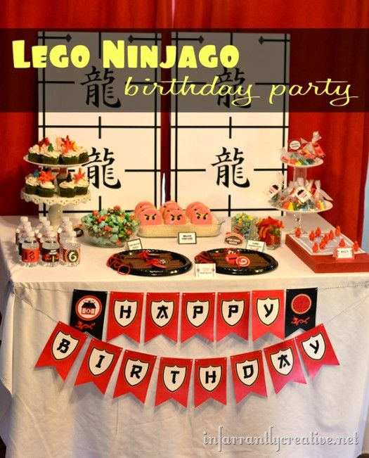 Banner/Backdrop idea  lego-ninjago-birthday-party
