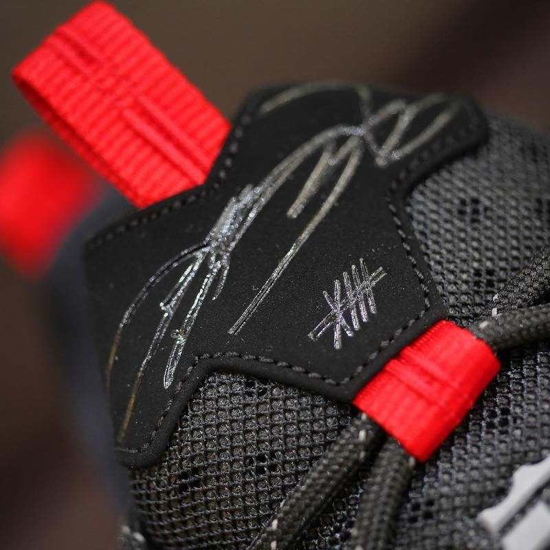 37da9f69070 Nike LeBron 13 Low Black Red (7)
