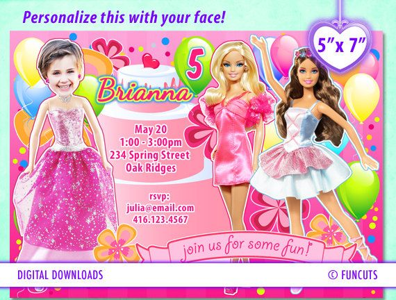 Mommys Block Party Lets Get This Party Started With A - Free barbie birthday invitation layout