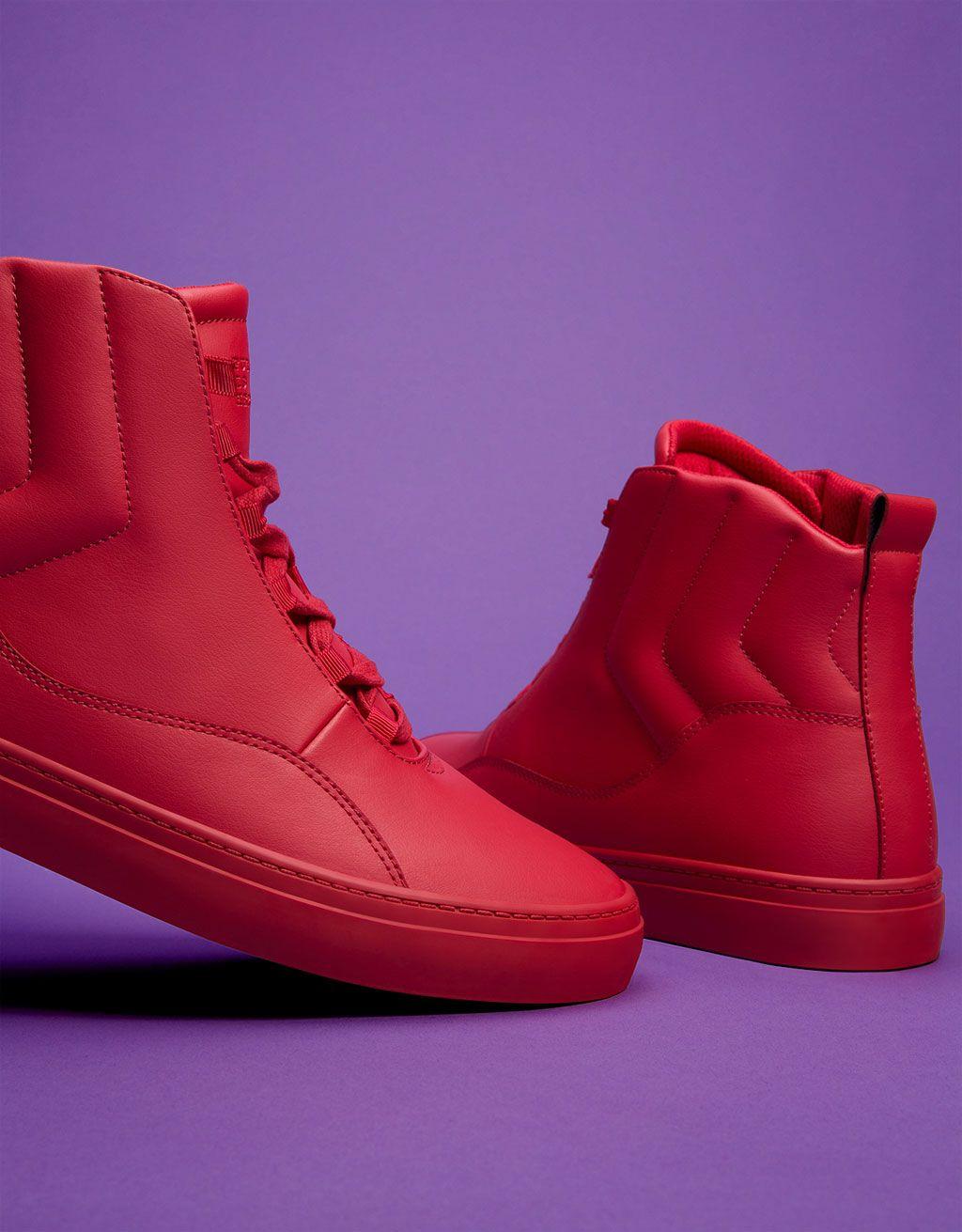 caba2de58e0 Men's quilted monochrome high top sneakers | man sneaker | High tops ...