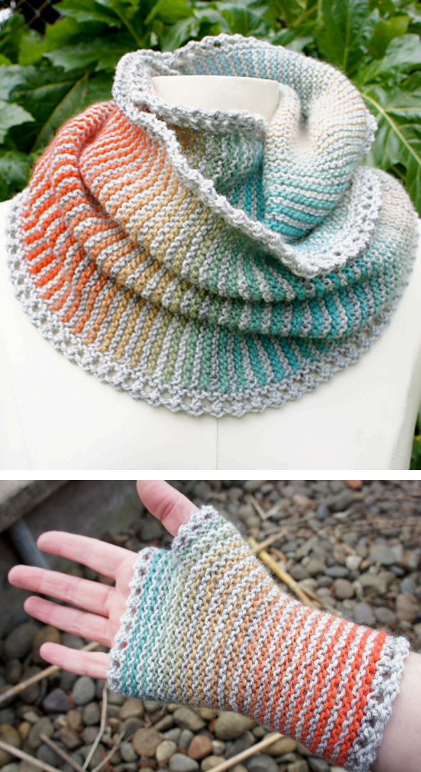 Free Knitting Pattern For Matching Prisma Infinite Scarf Cowl And