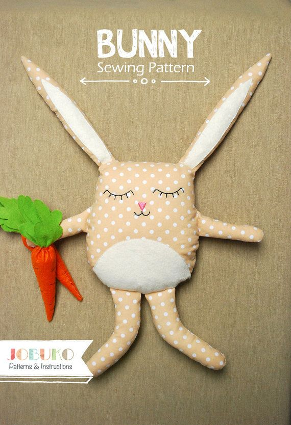Bunny PDF Sewing Pattern by Jobuko | Softies | Pinterest | Filz ...
