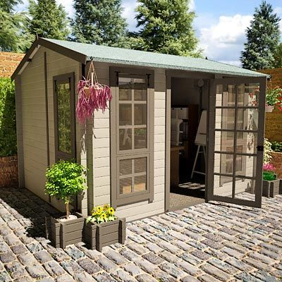 BillyOh Brighton Garden Office Log Cabins | sheds | Pinterest