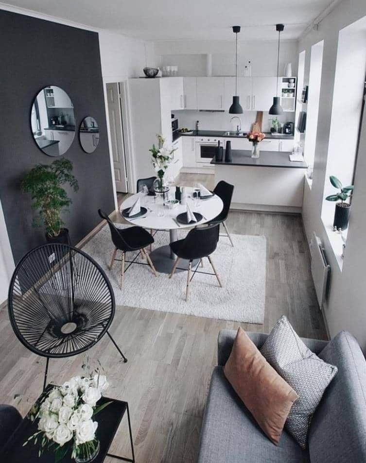Come dividere la cucina dal soggiorno: Soggiorno Con Cucina A Vista Tante Idee E Consigli Utili Small Apartment Living Open Living Room Design Small Apartment Living Room