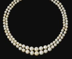 Natural pearl necklace - 120 natural pearls -  $446,583 at auction