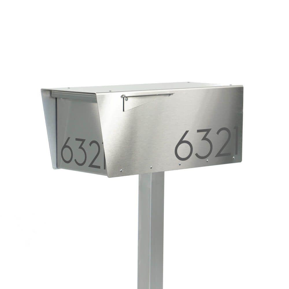 Anthony S Post Mount Mailbox Modern Mailbox Stainless Steel Mailbox Mailbox
