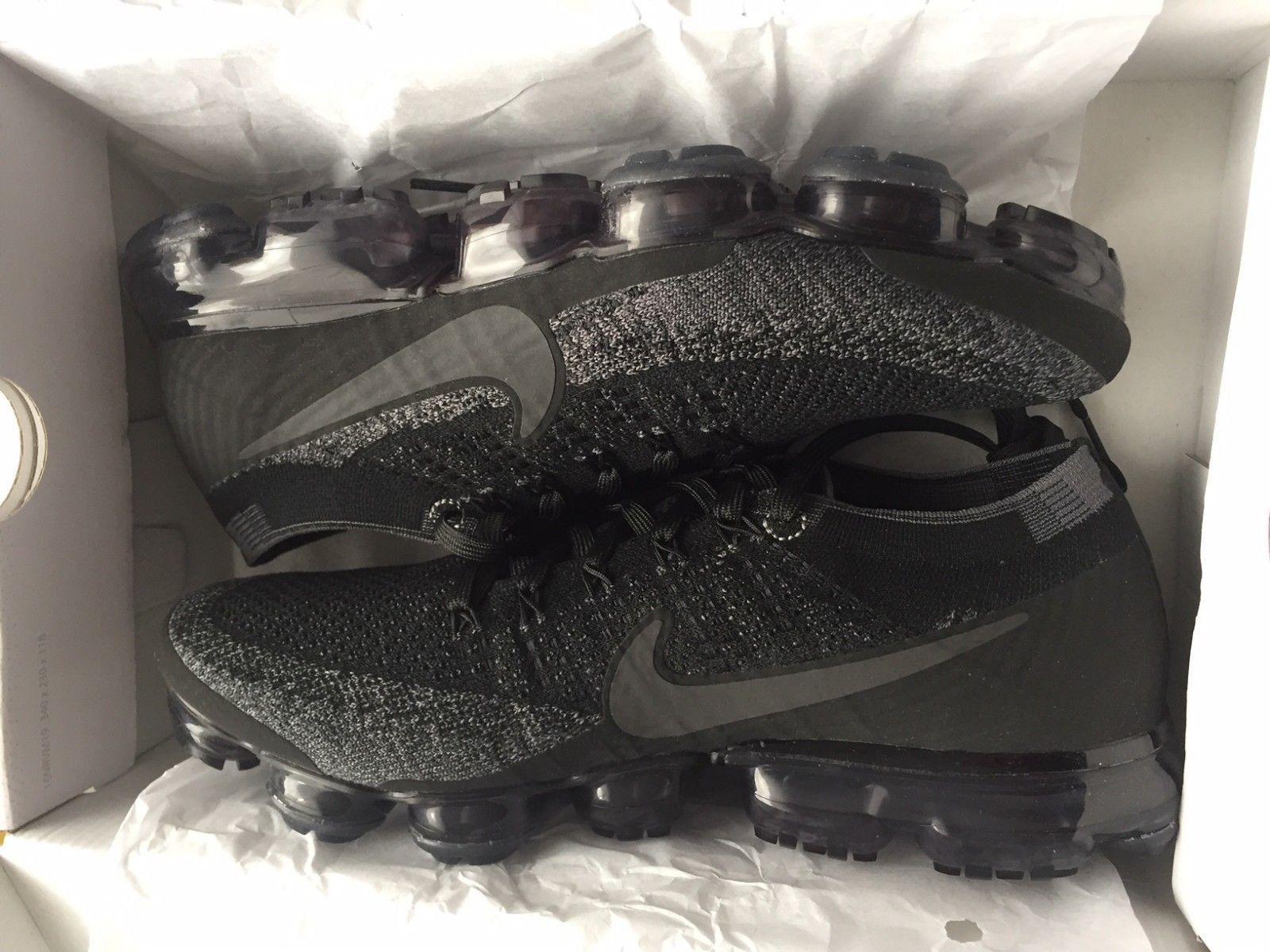 54ada2dddcdeb -Women s-Nike-Air-VaporMax-FlyKnit 899473-003 Triple Black US 8 EUR 39