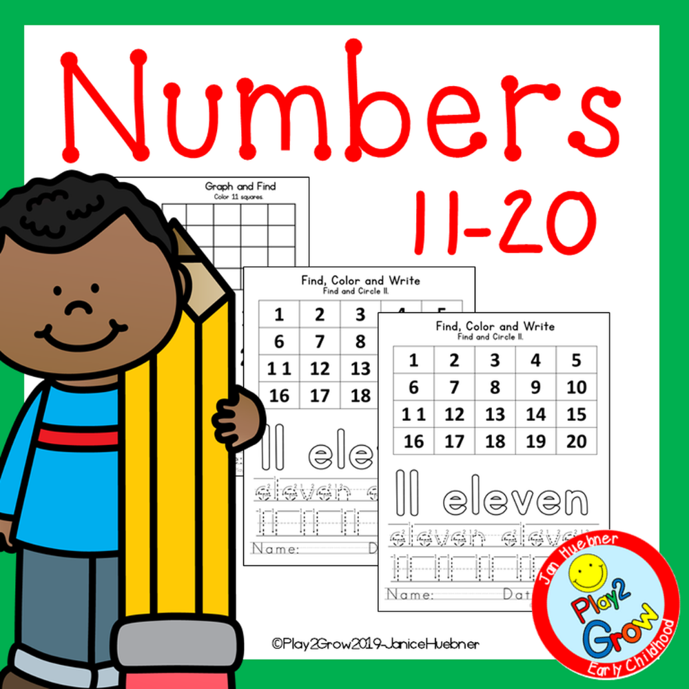 Practice Writing Numbers 11 20 Amped Up Learning Writing Numbers Writing Practice Kindergarten Letters