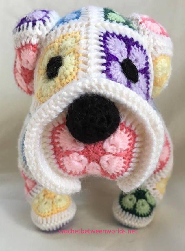 Crochet between worlds: Max the African Flower Bulldog | Crochet ...