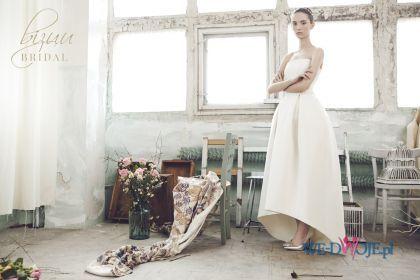 suknia ślubna Bizuu asymetryczna - Suknie ślubne Bizuu Bridal 2015 > Suknie ślubne