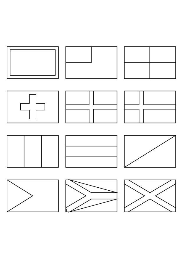 Printable Coloring Pages Of Flags Around The World #5 | SVG Files ...