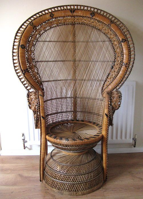 Peacock Wicker Chair Home Decor