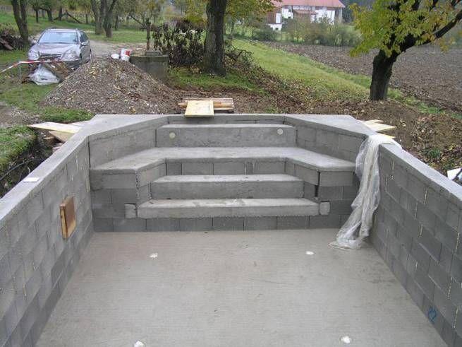 Vía: Como construir una piscina | Piscinas | Pinterest | Piscinas ...