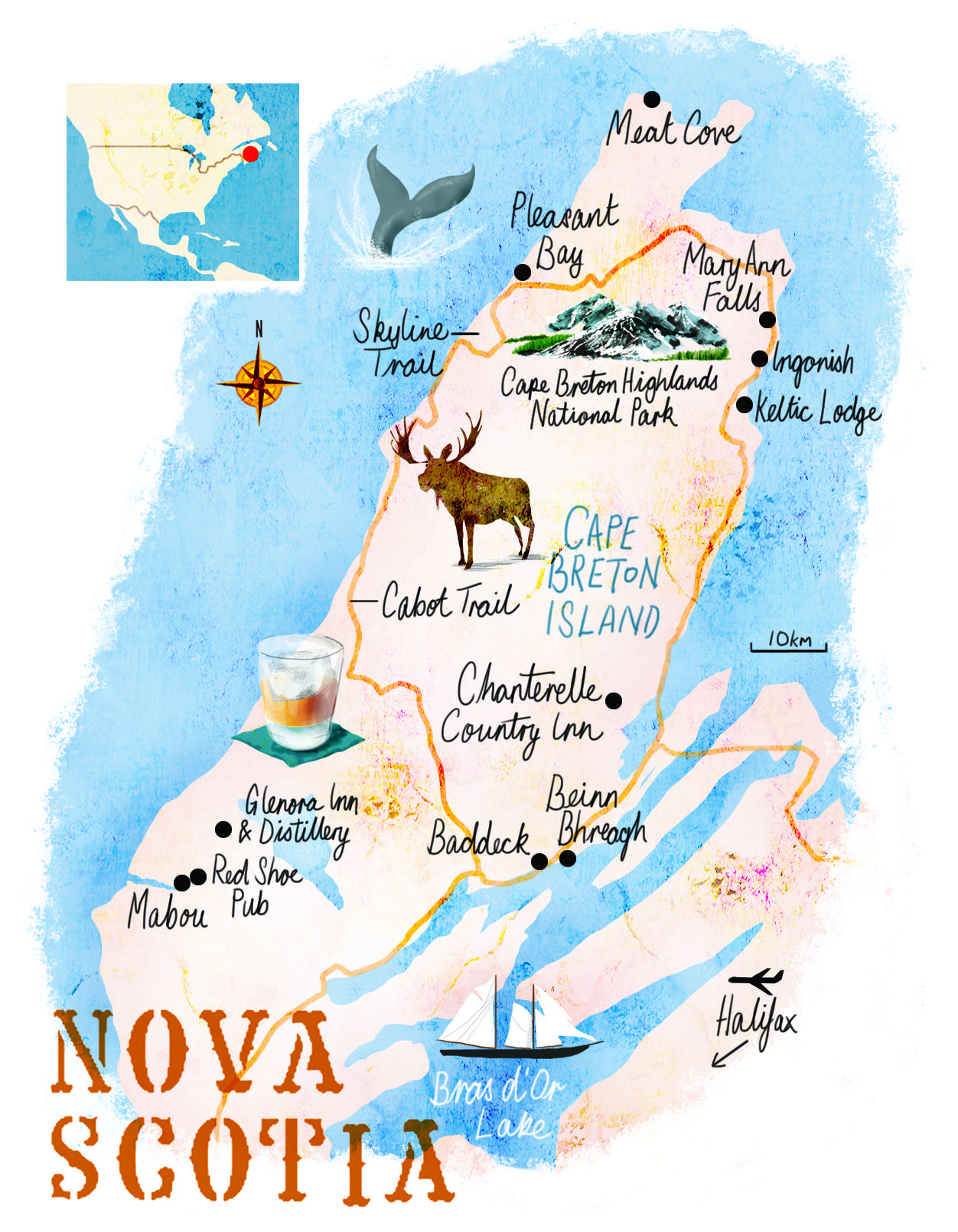 Nova Scotia map by Scott Jessop April 2016 issue Nova Scotia