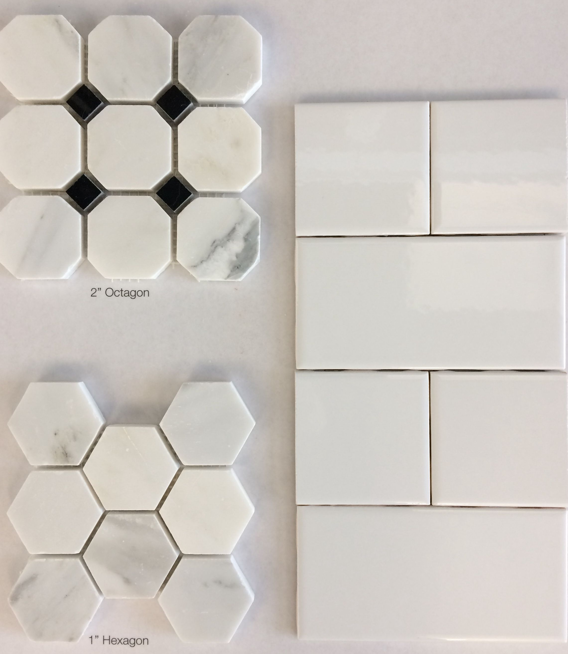 Level 4 bath tile 1 hexagon or 2 octagon black dot marble floor level 4 bath tile hexagon or octagon black dot marble floor tile with white ice ceramic wall tile dailygadgetfo Images