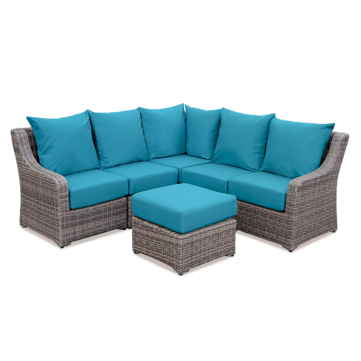 Cedar Grove 6 Piece Sectional With Sunbrella Fabric And Multiple