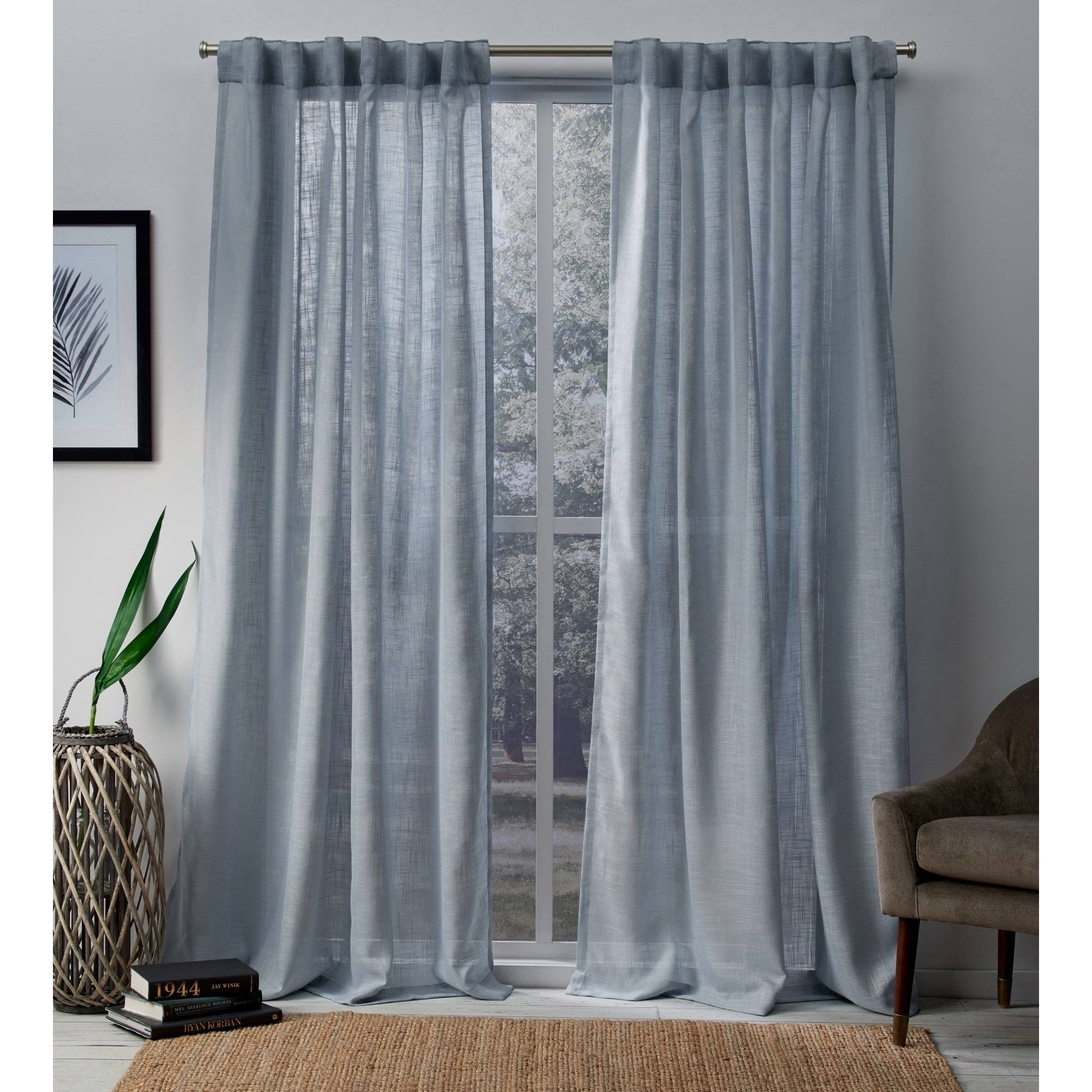 Ati Home Bella Sheer Hidden Tab Top Curtain Panel Pair